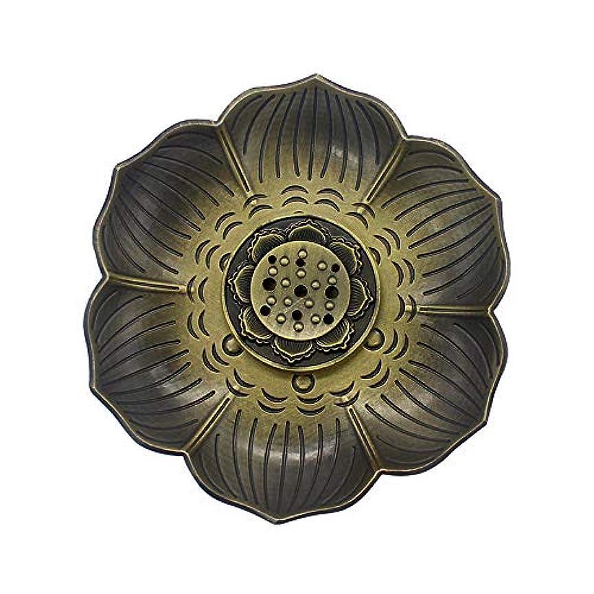 MyLifeUNITブロンズLotus Incenseホルダー、多目的香炉お香の円錐、またはコイル
