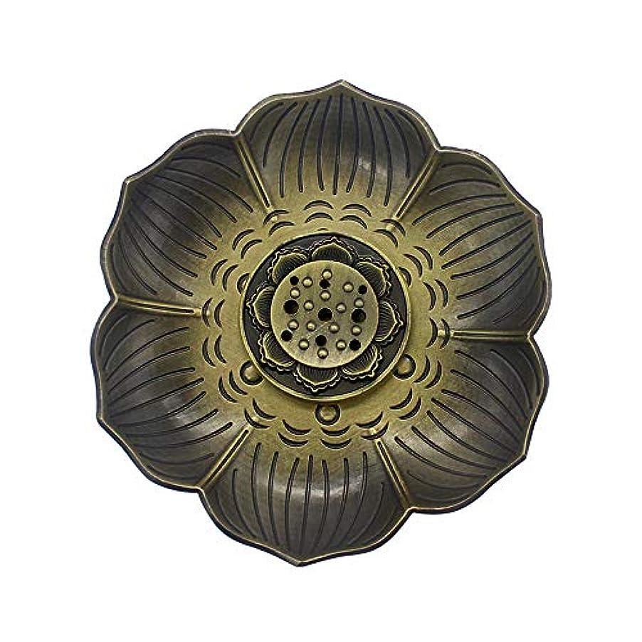 マウス中世の枯渇するMyLifeUNITブロンズLotus Incenseホルダー、多目的香炉お香の円錐、またはコイル