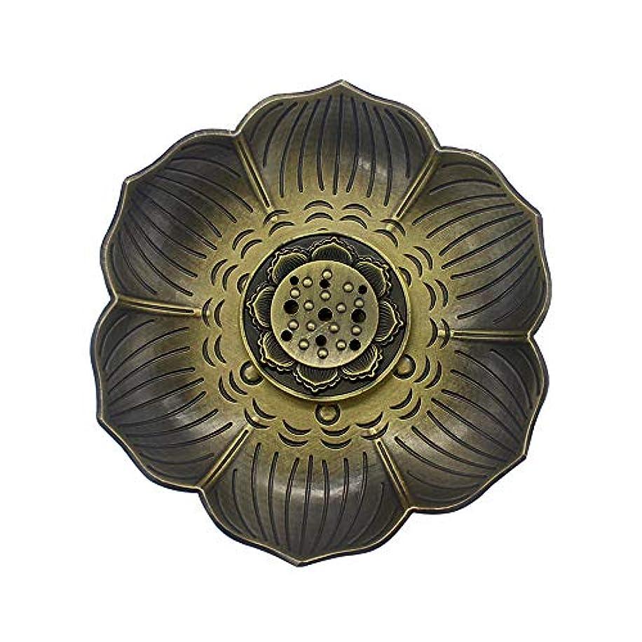 ラフ睡眠侮辱に賛成MyLifeUNITブロンズLotus Incenseホルダー、多目的香炉お香の円錐、またはコイル