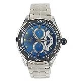 Chronomart (クローノーマート) 飾りのクロノグラフ 石英 青色ダイアル 男性用 ステンレス鋼の腕時計 ORK-00324 (並行輸入品) [並行輸入品]