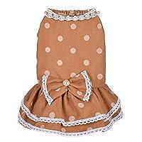 ペット服 かわいい犬水玉夏のドレスペット犬服衣装柔らかい綿服衣装子犬犬用 犬の服 (色 : 黄, サイズ : XL)