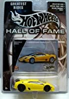 Hot Wheels 2002 Hall Of Fame 1:64 Scale 35th Anniversary Yellow Lamborghini Diablo 6.0 Die Cast Car