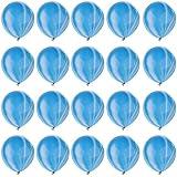 Kesoto 全7色 マルチカラー バルーン ラテックス製 スワール 瑪瑙風船 ベビーシャワー 誕生日 装飾  - 青