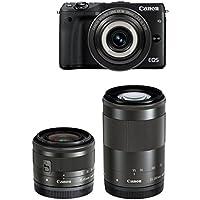 Canon ミラーレス一眼カメラ EOS M3(ブラック)・クリエイティブマクロ トリプルレンズキット EF-M28mm F3.5 IS STM EF-M15-45mm F3.5-6.3 IS STM EF-M55-200mm F4.5-6.3 IS STM 付属 EOSM3BK-CMTLK