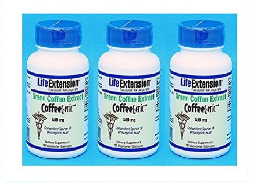 グリーンコーヒーダイエットサプリメント 海外直送品 (3本, グリーンコーヒーエクストラクト400mg90錠)