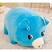 HuaQingPiJu-JP かわいい42センチメートル豚のデザインぬいぐるみピローソフト豚のおもちゃクッションギフトホームぬいぐるみギフト(ブルー)