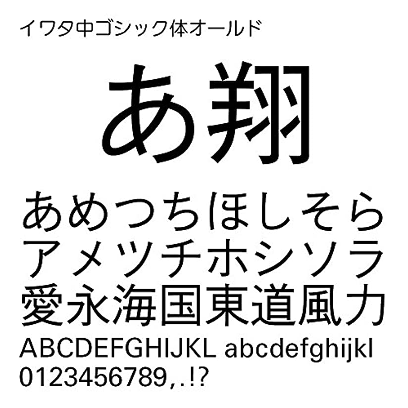 イワタ中ゴシック体オールドPro OpenType Font for Windows [ダウンロード]