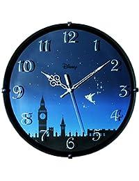 ディズニー 掛け時計 ティンカーベル 連続秒針 ブラック DIC-5021-TB