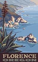 Northwest Art Mall Florence Oregon Coast Line Unframed Prints by Paul A Lanquist 11-Inch by 17-Inch [並行輸入品]