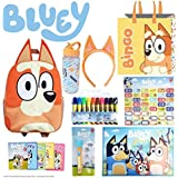Bingo SHOWBAG - from Bluey Kids Show - Inc. Backpack , Drink Bottle, Headband, Markers , Memory Game , Placemat , Projector T