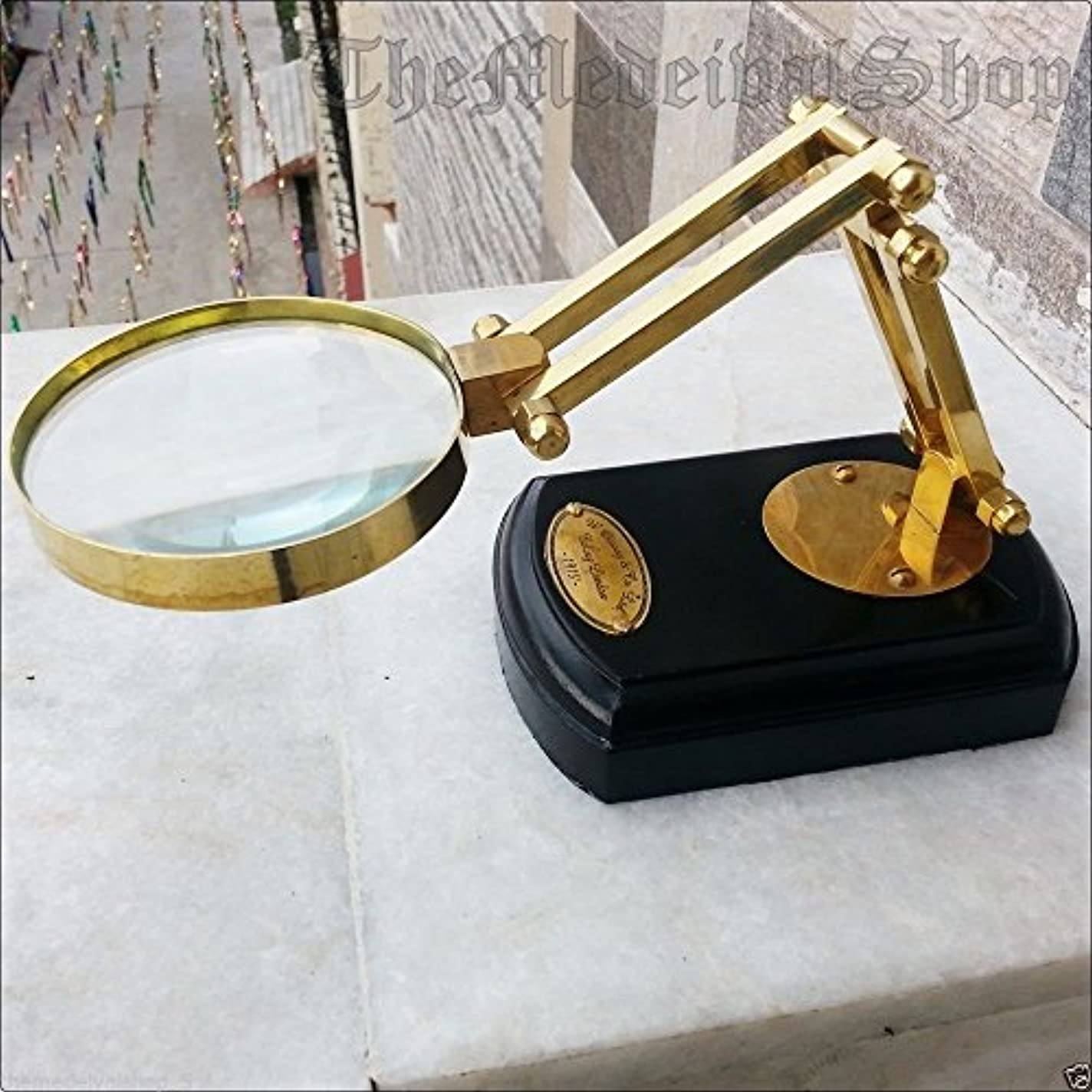 クロニクル共同選択利点Humaira Nauticalsソリッド真鍮Tabletop虫眼鏡拡大鏡真鍮ヴィンテージスタイルデスクトップギフトB