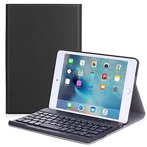iPad Mini 4 ケース - ATiC Apple iPad Mini 4 (2015) 7.9 インチ iOS タブレット専用 JP配列/US配列両方対応 Bluetoothキーボード型フォリオケース。BLACK (iPad Mini 3,2,1に適応ない)