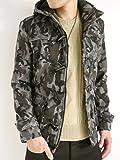 (オークランド) Oakland ウール メルトン ダッフルコート コート ウィンター 着回し モード 秋 冬 メンズ カモフラージュ Lサイズ