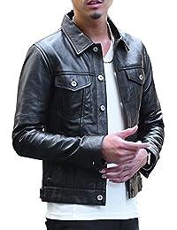ジョーカーセレクト(JOKER Select) レザージャケット メンズ ライダースジャケット シングル ダブル Gジャン 本革