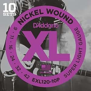 D'Addario ダダリオ エレキギター弦 ニッケル SuperLight .009-.042 EXL120-10P 10set入りパック 【国内正規品】
