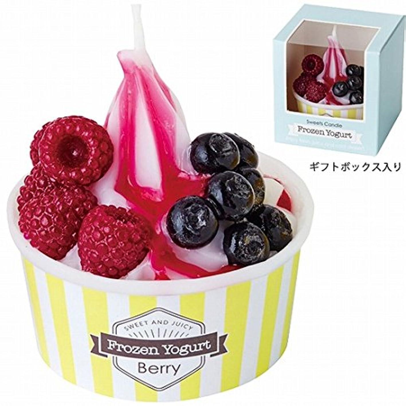 軽蔑する旅ロゴカメヤマキャンドル(kameyama candle) フローズンヨーグルトキャンドル 「ベリー」