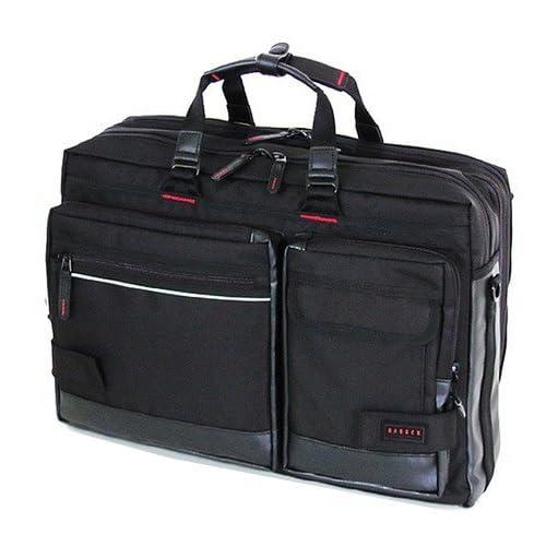 BAGGEX[バジェックス]ビジネスバッグ メンズ キャリーバッグ ショルダーバッグ 出張 スーツ A3 ノートPC対応 盗難防止 安全 ブラック