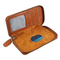 DFV mobile - Executive Wallet Case with Magnetic Fixation and Zipper Closure for => FLY VIEW MAX (2018) > Brown