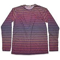 [ジェームズ・スクエア] コットン プリント Tシャツ メンズ 長袖 ネイティブ柄