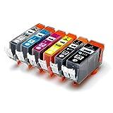CANON / キヤノン キャノン 純正互換インクカートリッジ インクタンク BCI325 (BK ブラック) + BCI326 (BK ブラック/ C シアン/ M マゼンダ / Y イエロー / GY グレー) 6色マルチパック 残量表示機能対応 ICチップ付 安心保証1年 eBARONGオリジナル