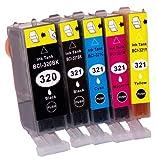 (5色セット) BCI-321+320/5MP canonキャノン互換インク 個別包装 【ICチップ付】 i-inkオリジナル (zakka-town限定販売) -
