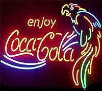 ネオンサイン、『enjoy』NEON SIGN 、ディスプレイ サインボード、ギフト、 省エネ、バー、オーム、カフェ、喫茶店、広告用看板、クラブ及び娯楽場所等 インテリア 17*14インチ (多色)