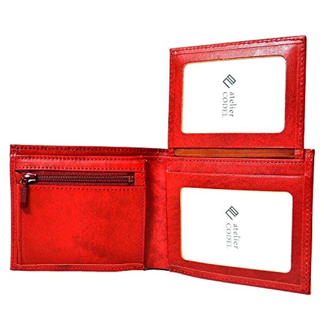 レパートリーセレナハイブリッドatelierCODEL 二つ折り 財布 免許証入れ 写真入れ 本革 レザー ウォレット 日本製 メンズ