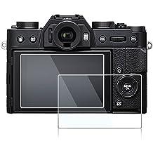 Duttek (2-Pack) Fujifilm X-T10 XT10 X-T20 X-E3 Tempered Glass Screen Protector, Optical 9H Hardness 0.3mm Ultra-Thin DSLR Camera LCD Tempered Glass for Fujifilm X-T10, X-T20, X-E3 Digital Camera