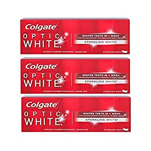 Colgate Optic White Toothpaste, Sparkling Mint, 3.5 Ounce (Pack of 3) [並行輸入品]