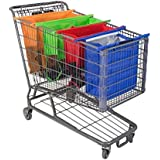 4 Pieces Reusable Supermarket Shopping Cart Bags Organizer Set