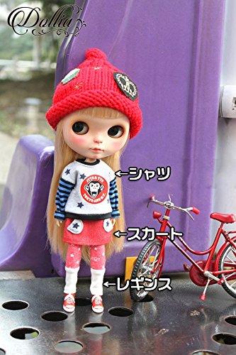 (ドーリア)Dollia ブライス 1/6ドール用 アウトフィット レッド デニム スカート スター ネオブライス ドール 人形 (スカート)