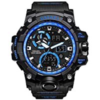 Military Men's Sports Analog Quartz Watch Dual Display Alarm Digital Watches with LED Backlight