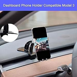 車用ダッシュボードスマートフォンホルダー 携帯電話マウント 調節可能 360度回転 iPhone Xs Max R X 8 Plus 7 Plus 6S Samsung Galaxy S9 S8 Edge S7 Tesla Model 3に対応