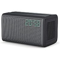 GGMM Bluetoothスピーカー Wi-Fiスピーカー デュアルドライバー搭載 ステレオ高音質 クラウド音楽オーディオ 目覚まし時計LED表示 USB充電ポート付き 卓上 据置型 ワイヤレスマルチルームスピーカー E3 (グレー)