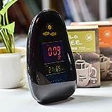 DeXopライフ小さな家電 スマート天気予報の電子時計 クリエイティブ漫画の目覚まし時計 ベッドルーム多機能置時計