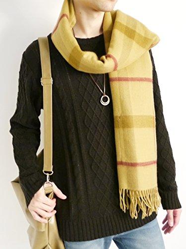 (モノマート) MONO-MART フィッシャーマン ニット セーター クルーネック 起毛 ゆる ケーブル編み 長袖 メンズ メンズ ブラック Mサイズ