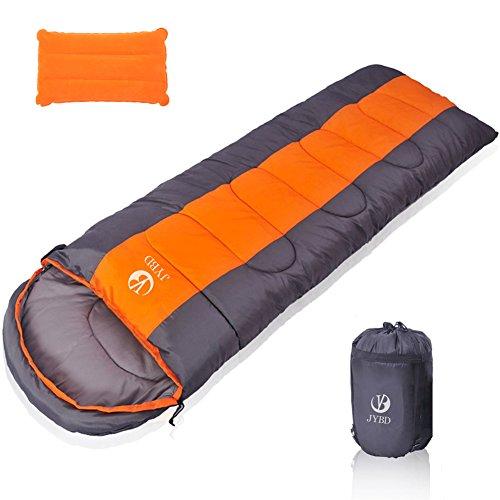 Sembo 寝袋 封筒型 防水シュラフ 春 冬 オールシーズン 丸洗い可能 2個連結使用可能 車中泊 登山 キャンプ 防災用 (オレンジ 1.8kg)