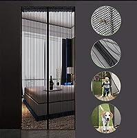 磁気スクリーンドア ヘビーデューティマグネット付き,耐久性のあるグラスファイバーフルフレームベルクロ 網戸 バグを維持します。 -c 100x200cm(39x79inch)