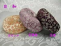 リン座布団 日和丸布団 4.0号 花柄 1.ピンク