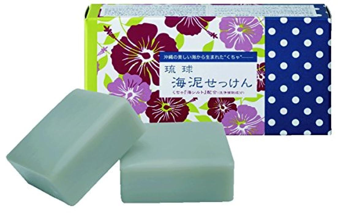 盲信染色性的琉球海泥せっけん(販売名:クレイソープKD) 100g×2個入