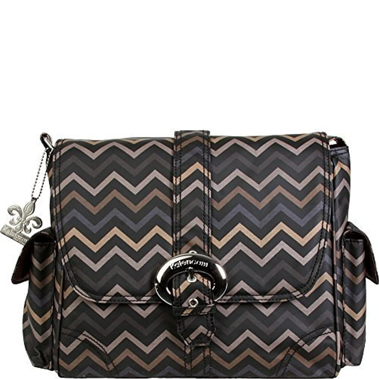 Kalencom Midi Coated Buckle Bag (Mini Chevron Sahara) by Kalencom [並行輸入品]