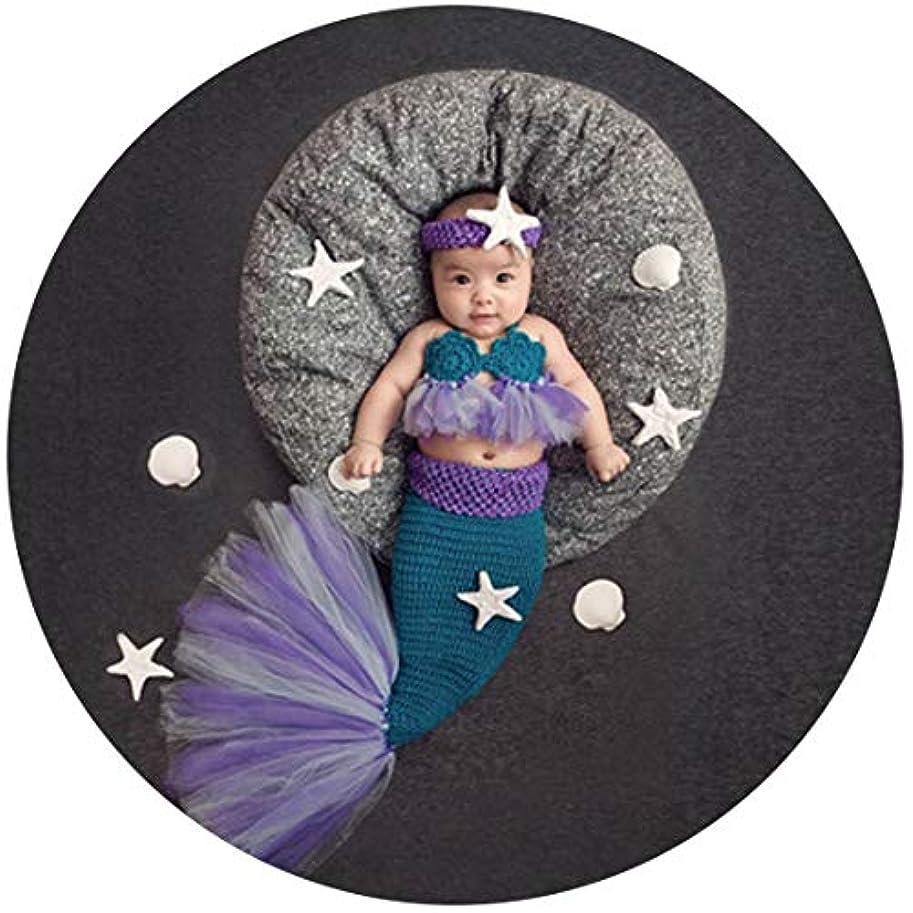 カリングすでにスポーツJuliyan 新生児 ベビーコスチューム ニューボーンフォト 記念写真 出産祝い 毛糸製 かわいいドレス