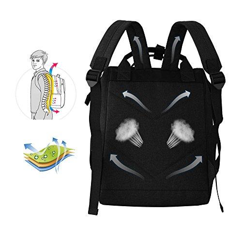 多機能 旅行 通勤 マザーズバッグ 大容量 ショルダーバッグ ハンドバッグ 人気 PCバッグ ママバッグ リュックサック(ブラック)