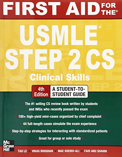 Download First Aid for the USMLE Step 2 CS, Fourth Edition (First Aid USMLE) 0071760504