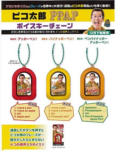 ピコ太郎 PPAP ボイスキーチェーン3種類/3個セット