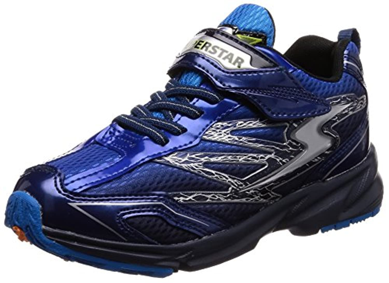 [スーパースター] 運動靴 通学履き マジック 軽量 19-24.5cm 3E キッズ 男の子 SS J817