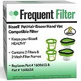 頻繁フィルター - ペットの毛消しゴム ハンド掃除機対応フィルター 交換部品番号 1608653 & 1608654