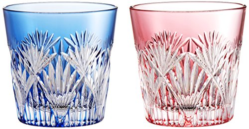 カガミクリスタル ペア冷酒杯(笹っ葉に斜十文字紋) 120cc...