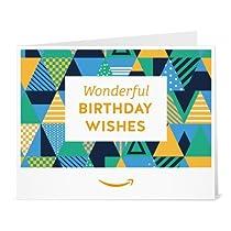Amazonギフト券- 印刷タイプ(PDF) - 誕生日(パーティーハット)