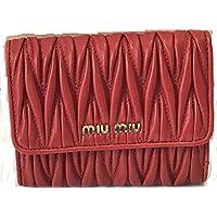 (ミュウミュウ) miumiu 長財布 折りたたみ財布 レディース レッド 5MH523 [並行輸入品]